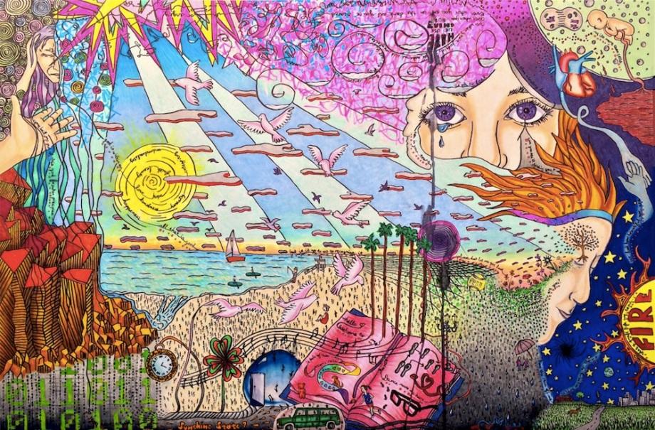 "Title:Peace Medium:Copic Markers Size:20""x 30"" art board"