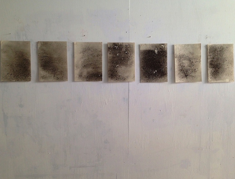 Title:Ashes Medium:Ash from decayed leaves. Size:Each paper - A4.