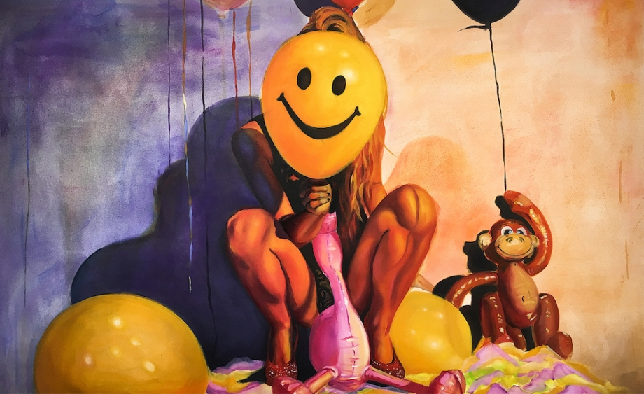"""Title:""""SMILE"""" 2016 Medium:Oil painting on canvas Size:72"""" x 48"""""""