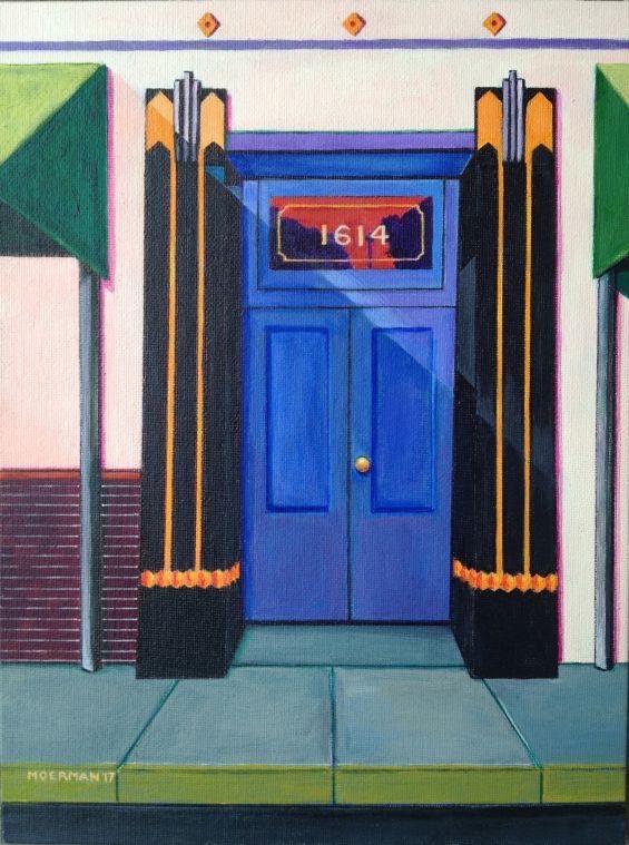 "Title:Deco Door Medium:Acyrlic Size:9x12"""