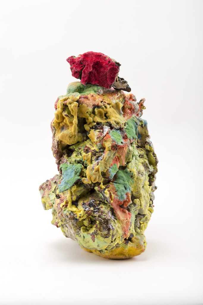 Title:New Conglomerate Medium:ceramic materials, paint, flock Size:14 x 5 x 5 inches