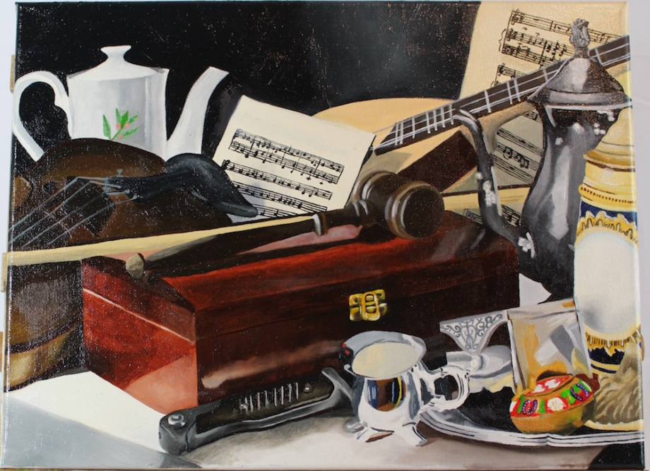 Title:The box Medium:Oil Paint Size:12x16 inches