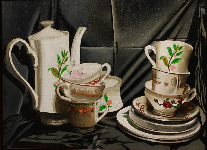 Title: The Dishes Medium: Oil Paint Size: 12x16 inches