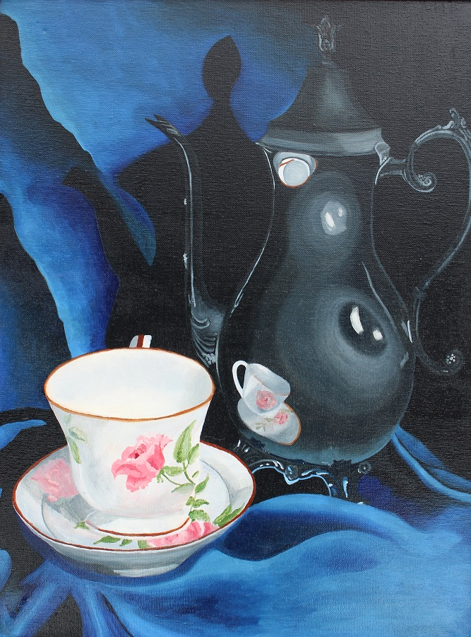 Title:My Cup of Tea Medium:Oil Paint Size:18x 24 Inches
