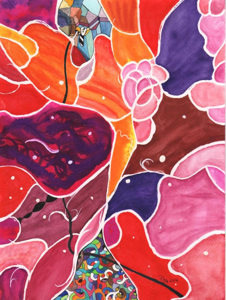 Title:Glimmer of Hope Medium:Watercolor and mixed media on paper Size:12 x9
