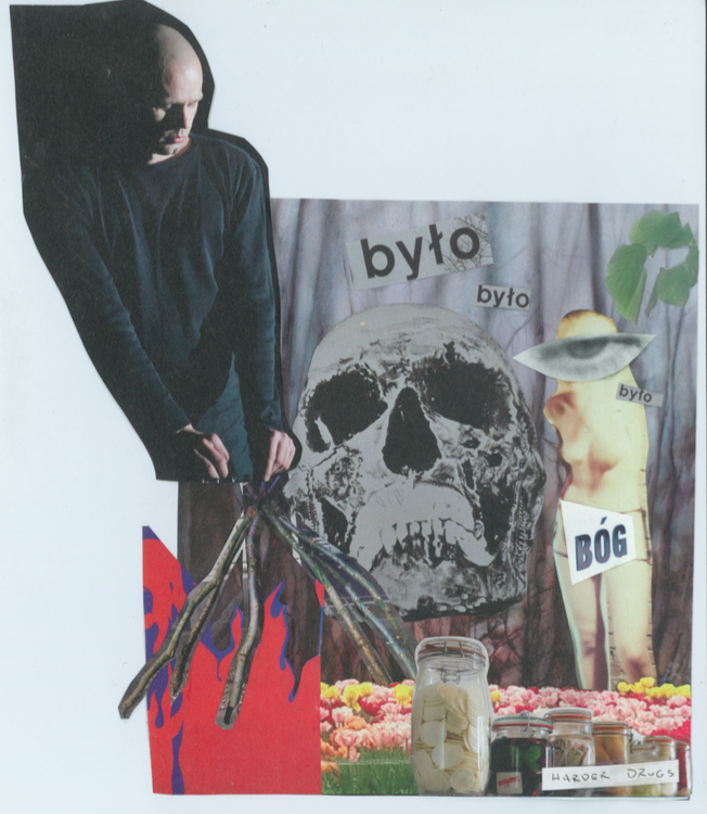 Title:Techno Transcendence, or The New Catholicism Medium:magazine collage Size:approx. 7x9 inches