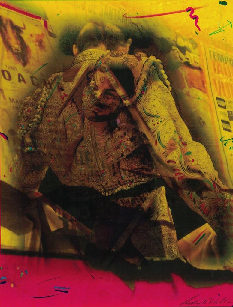 Title:Matadore Medium:watercolor mixed media Size:19x17