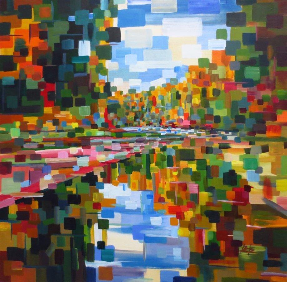 Title:Fall Back On Medium:Acrylic Size:30x30