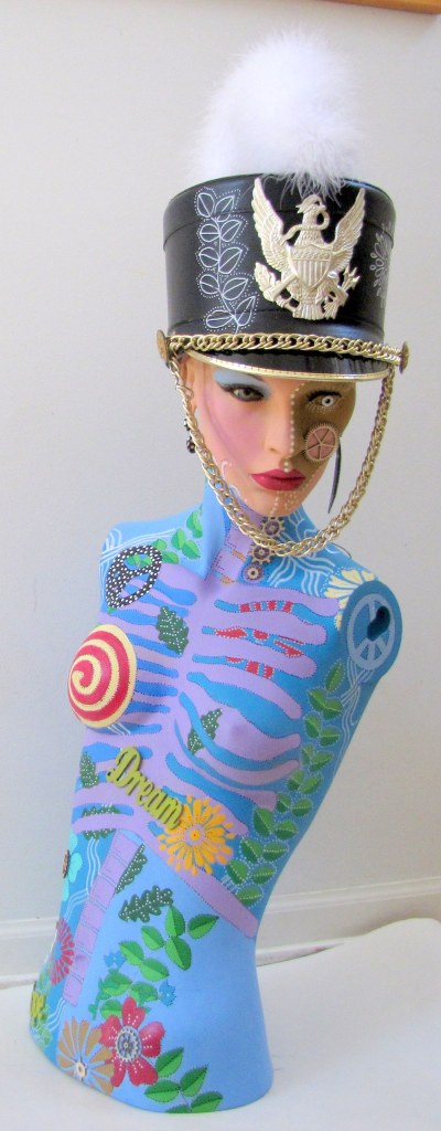 Title:I March To My Own Beat Medium:Recycled found objects Size:37 x 15 x 16