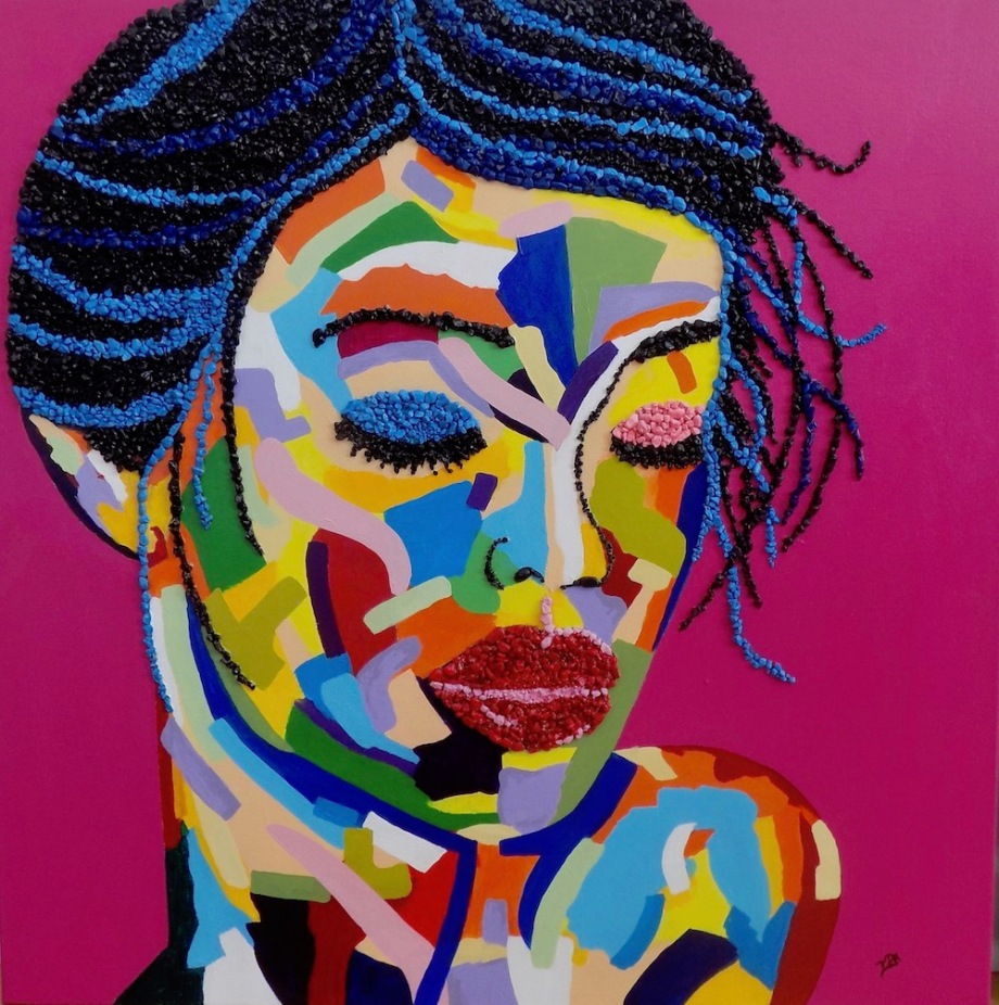 Title:Fauve I Medium:	Mixed Media and Acrylic Paint on canvas Size:	30 x 30