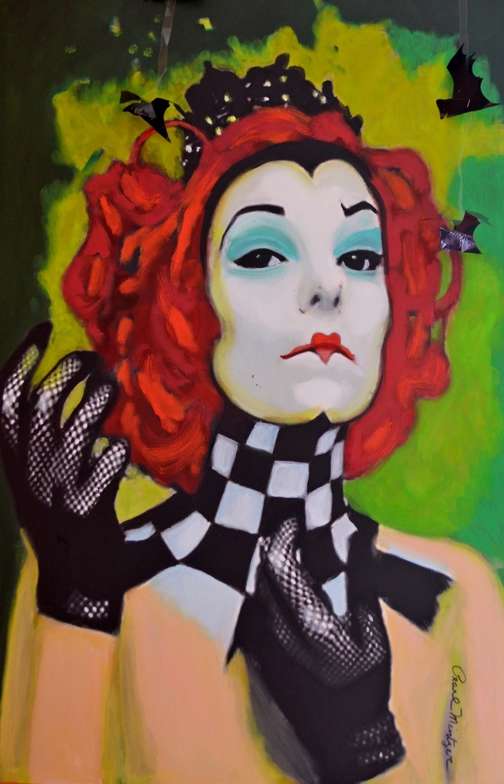 """Title: """"Queen Of Hearts"""" Medium: oil Size: 24x36"""